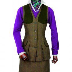 LAKSEN LADY TYNE TWEED SHOOTING VEST