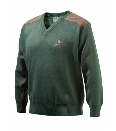 BERETTA V NECK PHEASANT SWEATER