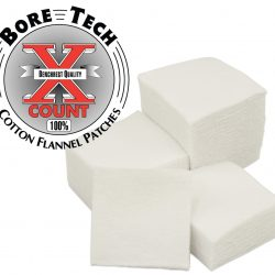 Bore Tech 1 3/4 Square Cotton Flannel Patches Qty 1000